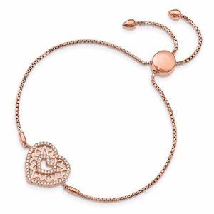 Heart Adjustable Bracelet Sterling Silver